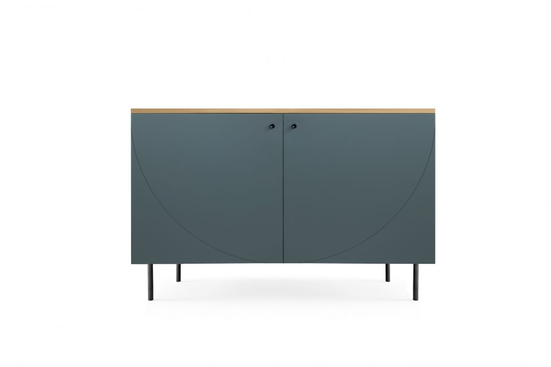 Gunship grey cabinet with a top